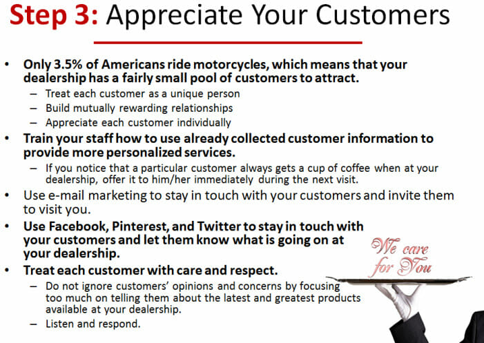 Appreciate Your Customers