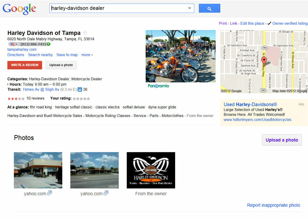google places harley