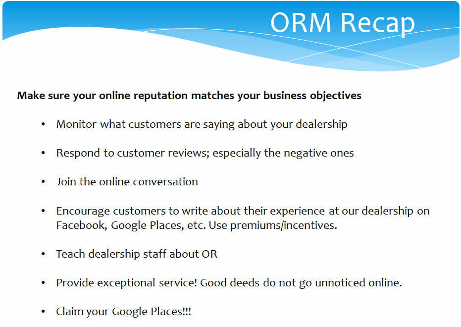 online reputation management review