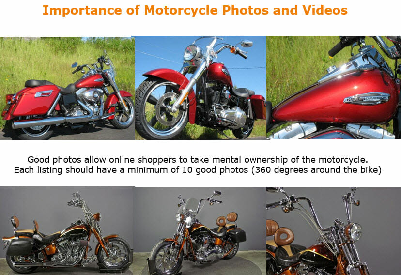 importance of motorcycle photos and videos