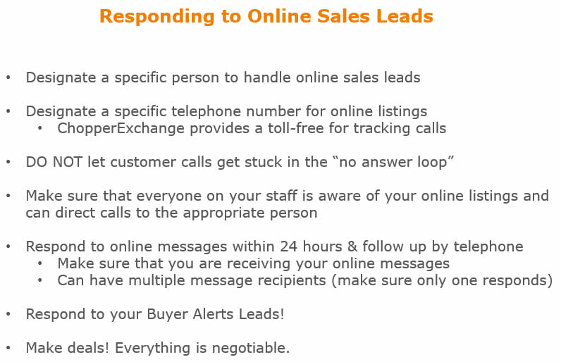 responding to online leads
