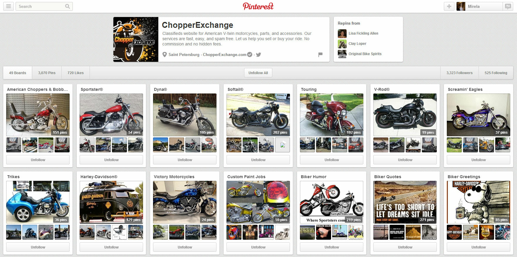 chopperexchange pinterest