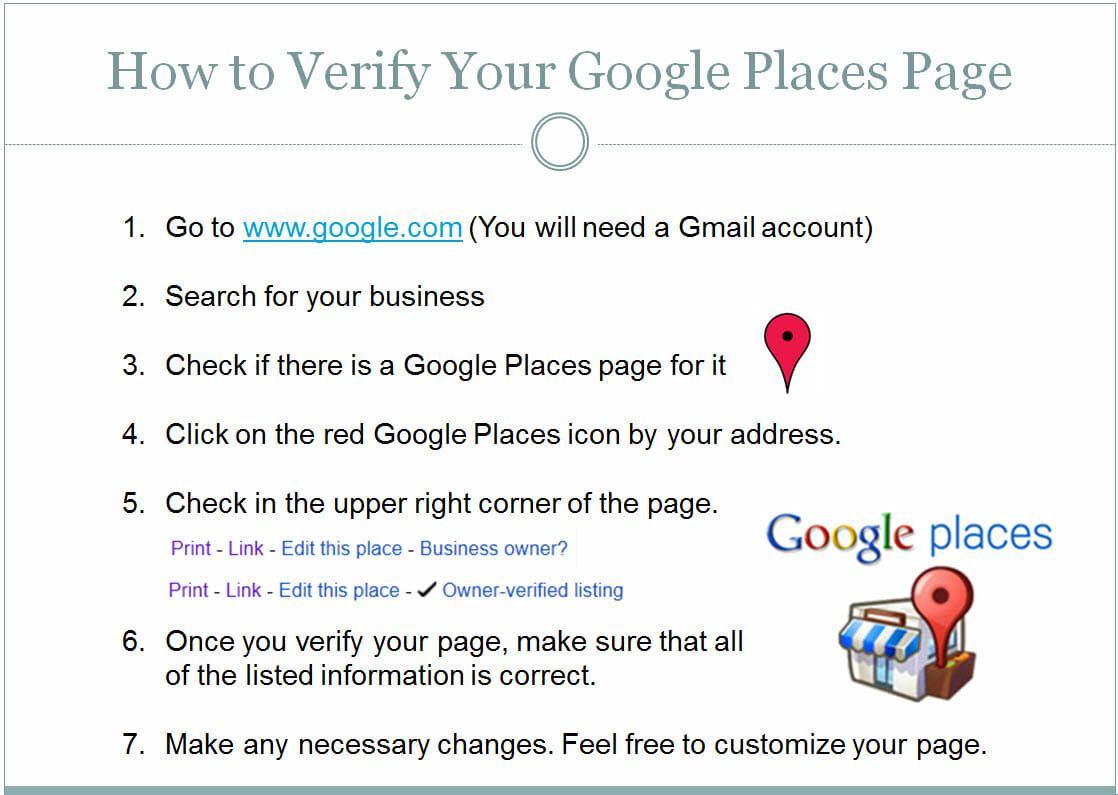 verify google places