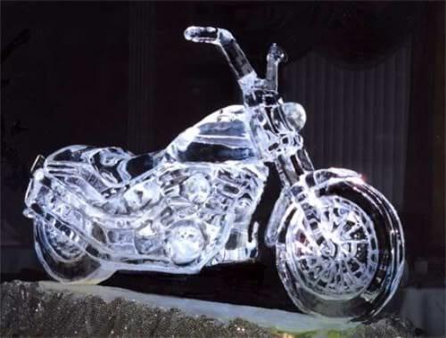 MotorcycleIceSculptureHarleyDavidso